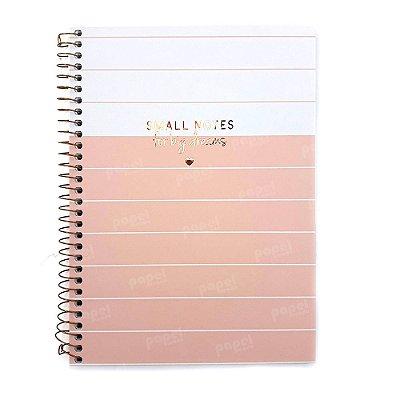 Caderno Soho Linhas Rosé 80 Folhas