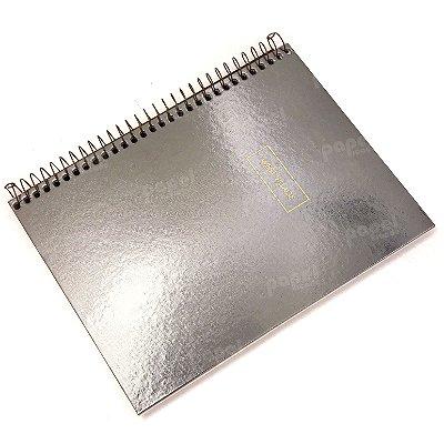 Caderno West Village Prata Envelhecido 80 folhas