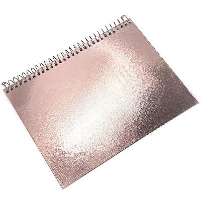 Caderno West Village Rosé Metálico 80 folhas