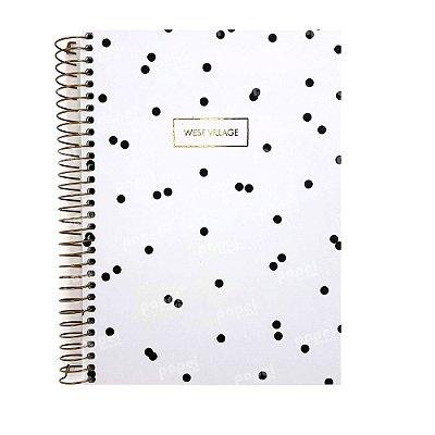 Caderno West Village Poá Branco 1 Matéria