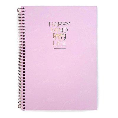 Caderno Happy Rosa 80 Folhas