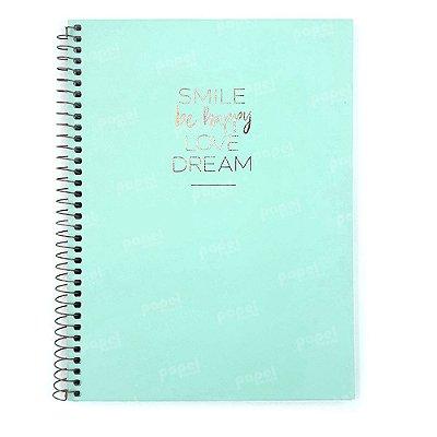 Caderno Happy Verde 10 Matérias