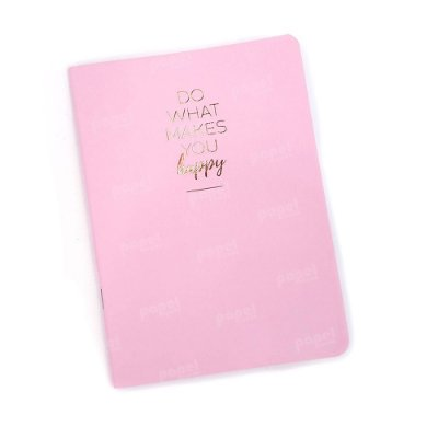 Caderninho Brochura Happy Rosa Pautado