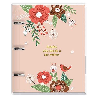 Caderno Fichário 3 Furos Jardim