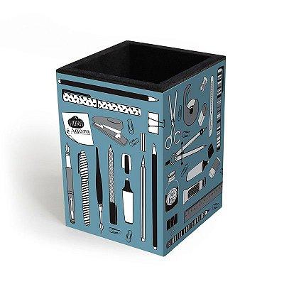 Porta Lápis Office Azul
