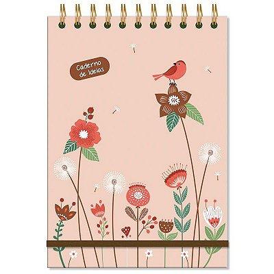 Caderno de Ideias e anotações Jardim