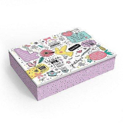 Caixa Organizadora Revestida Beija-Flor Média