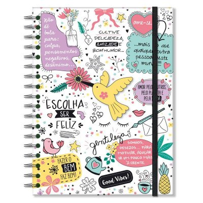 Caderno Beija-flor Médio 96 folhas