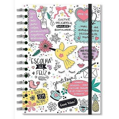 Caderno Midi Beija-flor 96 folhas