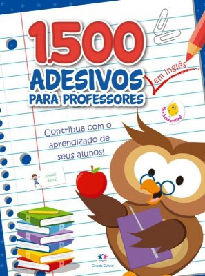 Caderno com 1500 Adesivos em Inglês Para Professor Azul