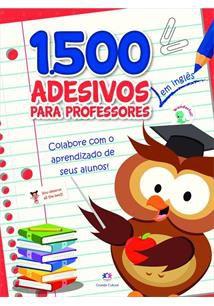Caderno com 1500 Adesivos em Inglês Para Professor Vermelho