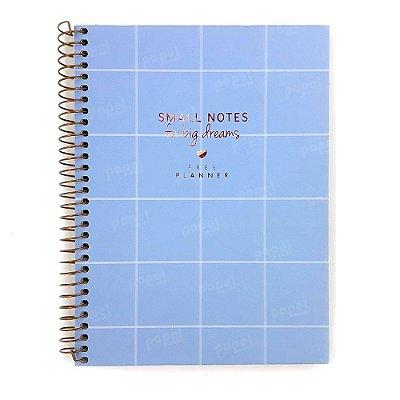 Planner Soho Quadriculado Azul Pastel