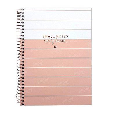 Caderno Soho Linhas Rosé 160 Folhas