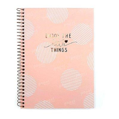 Caderno Soho Círculos Rosé 160 Folhas