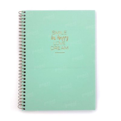 Caderno Médio Happy Verde 80 Folhas