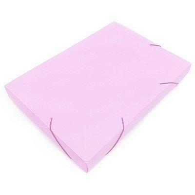 Pasta Fechamento em Elástico 4cm Rosa Pastel