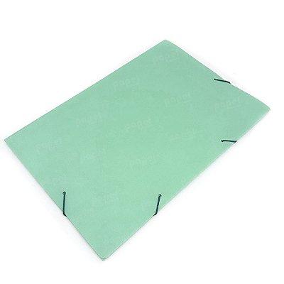 Pasta Fechamento em Elástico Verde Pastel