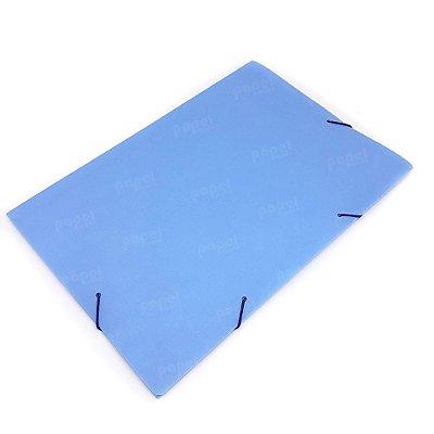 Pasta Fechamento em Elástico Azul Pastel