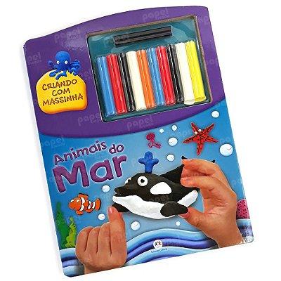Livro Criativo com Kit de Massinha Animais do Mar