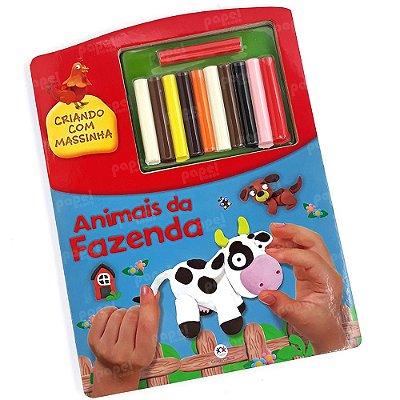Livro Criativo com Kit de Massinha Animais da Fazenda