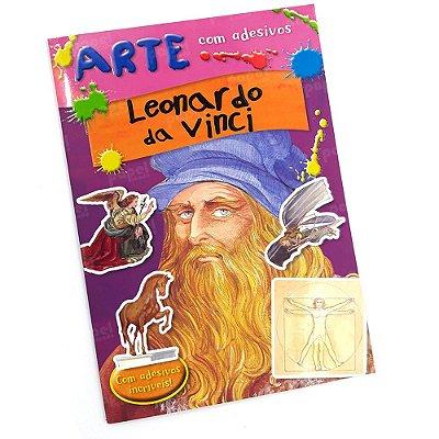Livro História da Arte com Adesivos Leonardo da Vinci