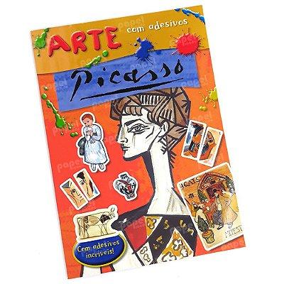 Livro História da Arte com Adesivos Pablo Picasso