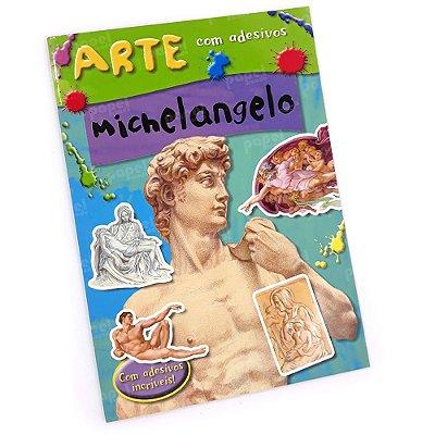 Livro História da Arte com Adesivos Michelangelo