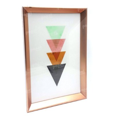 Quadro Decorativo Rosé Triangulos