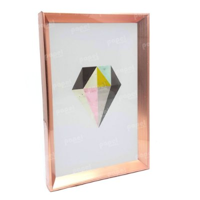 Quadro Decorativo Rosé Diamante