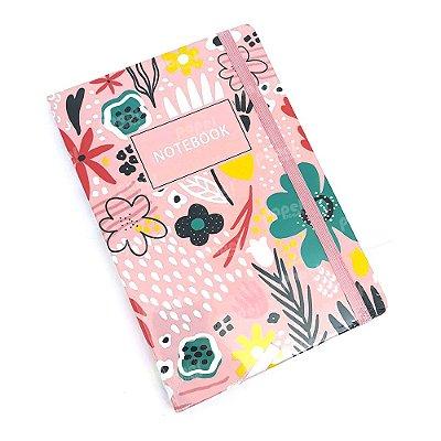 Caderneta Rosa Flores