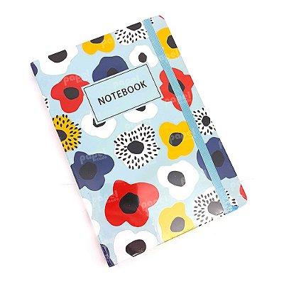 Caderneta Azul Flores