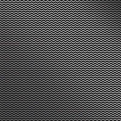 Folha de Scrapbook Preta Metalizada Chevron