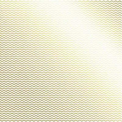 Folha de Scrapbook Branca Dourada Chevron