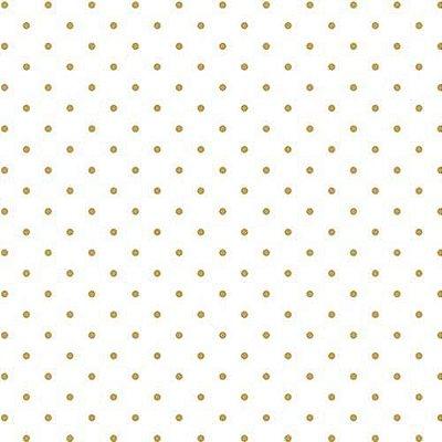 Folha de Scrapbook Branca Dourada Poá
