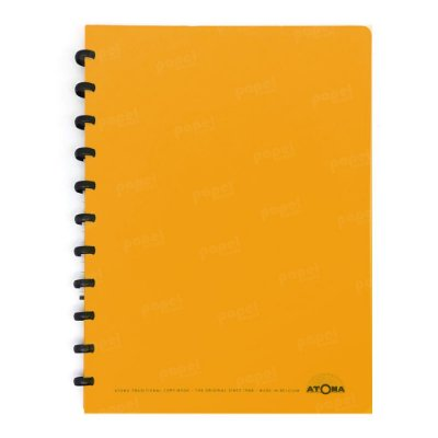 Caderno de Discos Laranja A4