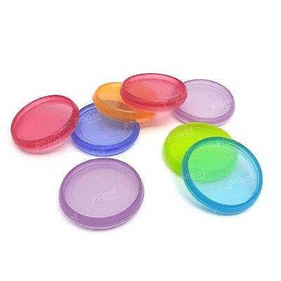 Conjunto 8 Anéis de Caderno de Discos Colorido 28mm