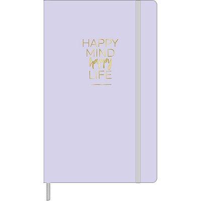 Caderneta sem Pauta Happy Lilás