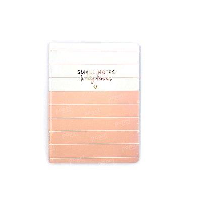 Caderninho Soho Linhas Rosé