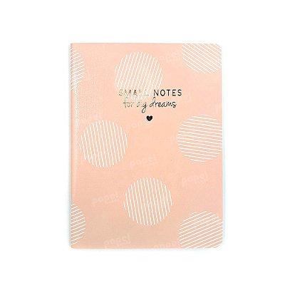 Caderninho Soho Círculos Rosa Pautado Médio