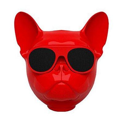 Caixa de Som Bluetooth Bulldog Vermelho