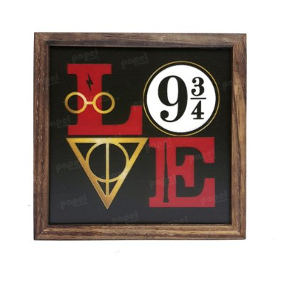 Quadro Decorativo Love Harry Potter