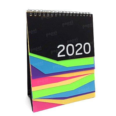 Calendário de Mesa Colorido 2020