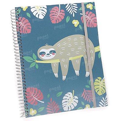 Caderno Flexível Bicho Preguiça 200 Folhas
