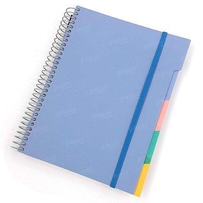 Caderno c/ Divisórias Removíveis  192 Folhas Azul