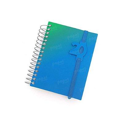 Agenda Diária Mini 2020 Degradê Verde e Azul