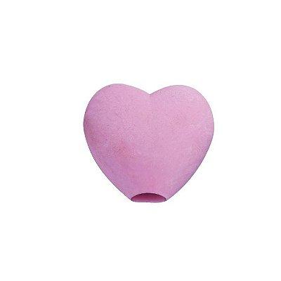 Borracha Divertida para Lápis Coração Rosa