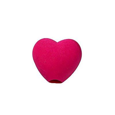 Borracha Divertida para Lápis Coração Vermelho