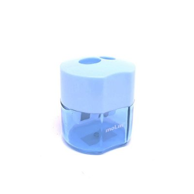 Apontador Duplo com Deposito Azul Pastel