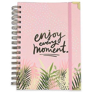 Planner Semanal Moment com Calendário Rosa