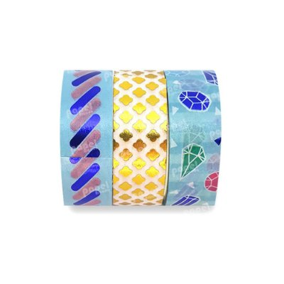 Conjunto Washi Tape 3 Unid Diamante